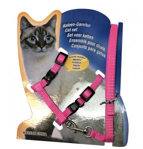 pink kitty harness