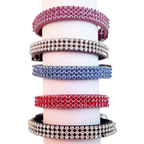 triple rhinestone collar