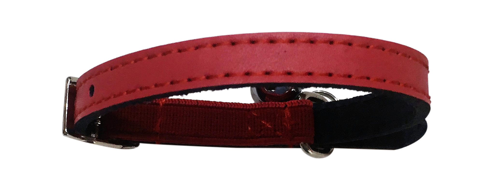 red leather collar