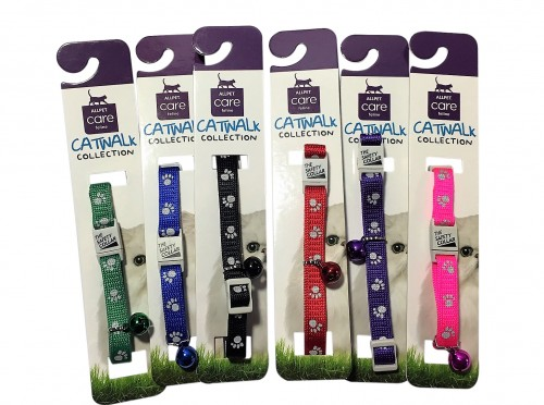 Reflective paw collars