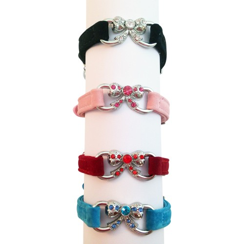 Suede Bow Collars